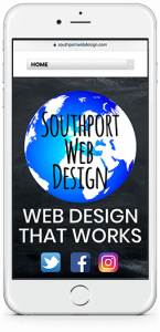 Southport Webdesign on mobile