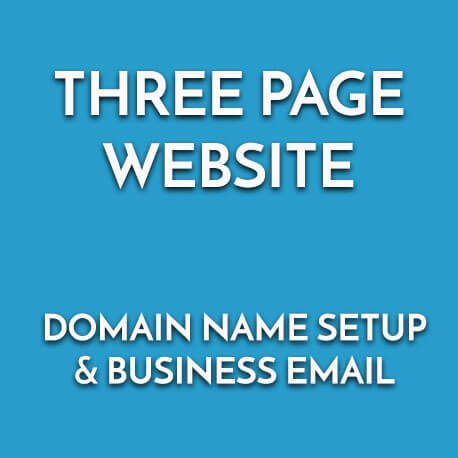 Buy 3 page website design